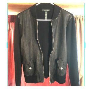 Ralph Lauren black leather sweater